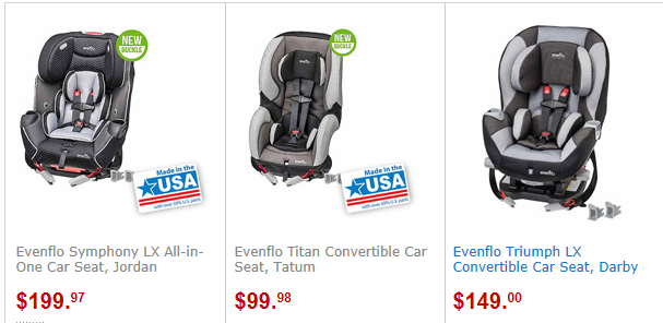 Walmart Evenflo Car Seat Coupon
